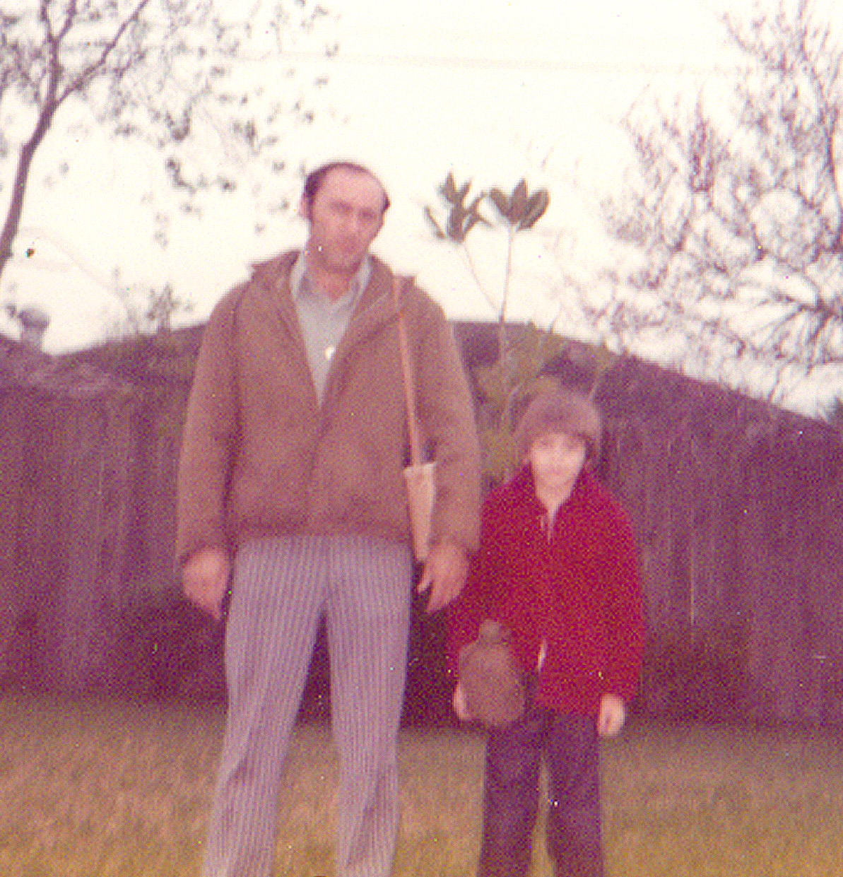 My father and I ready for the hunt. Since I'm not wearing glasses, this must have been taken just before my poor eyesight was diagnosed.