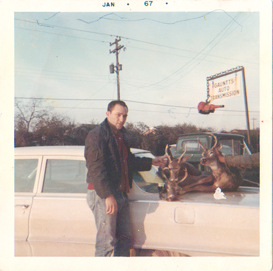 My father was raised traditionally as a hunter. This photo was taken 4 months after I was born.
