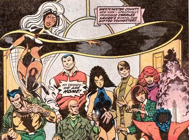 The X-Men, drawn by John Byrne.